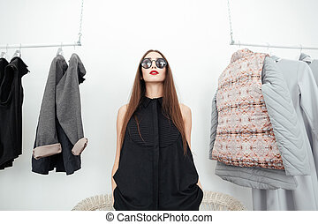Styllish woman in sunglasses