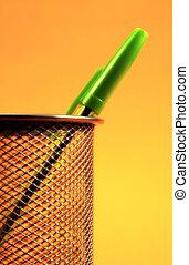 stylo, 2, vert