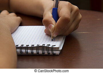 stylo, agenda, girl, écriture