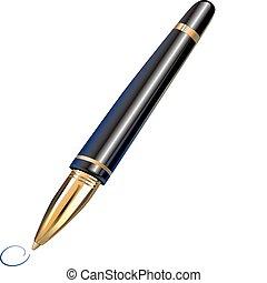 stylo, balle