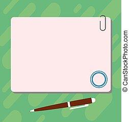 stylo bille, concept, agrafe, couleur, texte, promotionnel, ...