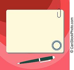 stylo bille, concept, pushpin, business, espace, couleur, ...