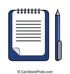 stylo bille, presse-papiers, stylo, &