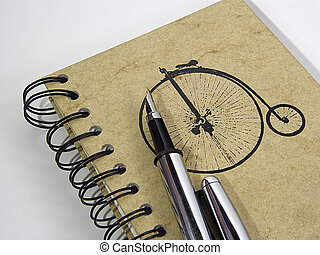 stylo, cahier