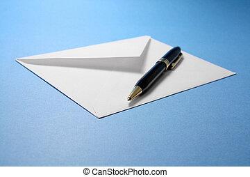 stylo, enveloppe