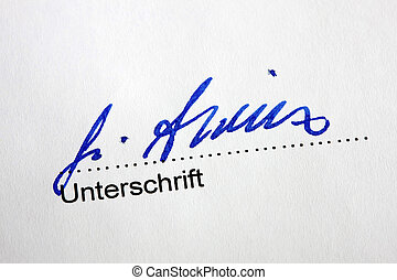 stylo, fontaine, lettre, signature