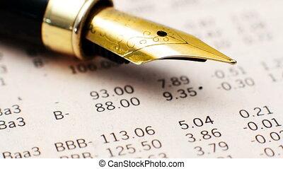 stylo fontaine, rapport financier, haut fin
