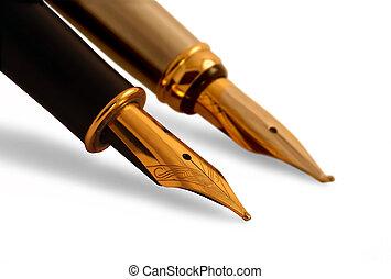 stylo fontaine, sur, feuille papier