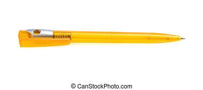 stylo, jaune