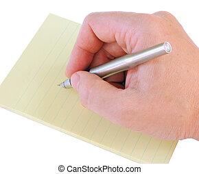 stylo, main