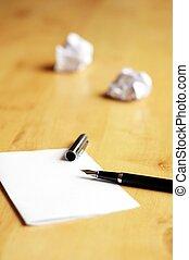 stylo, papier