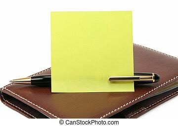 stylo, papier lettres, crosse
