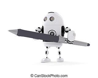 stylo, robot
