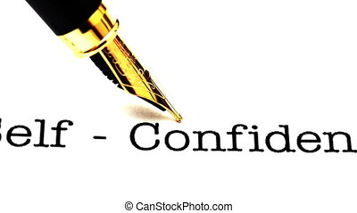 stylo, soi, texte, coup, fontaine, confiance, chariot