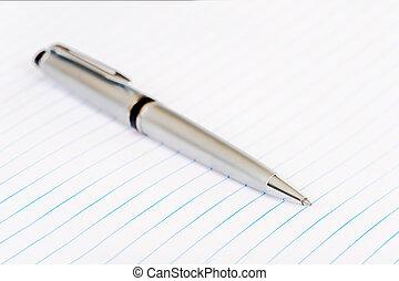 stylo, sur, papier