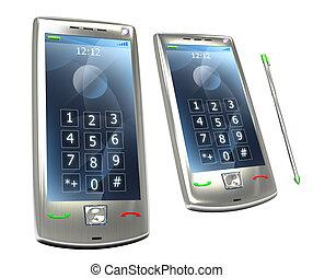 stylus, téléphone portable, 3g, pda
