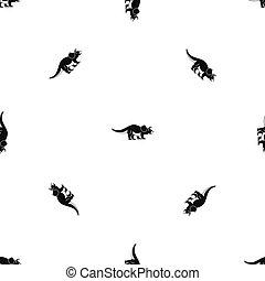 Styracosaurus pattern seamless black
