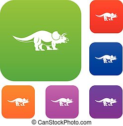 Styracosaurus set color collection