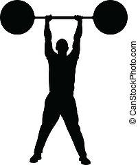 styrka, vikt lyfta