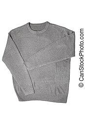 suéter, cinzento
