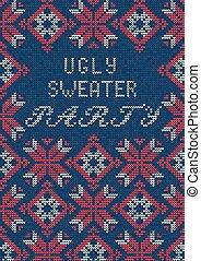suéter, feo, fiesta