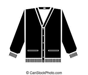 suéter, vetorial, ilustração