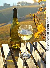 Suíça, lago, contra, Genebra, vinho
