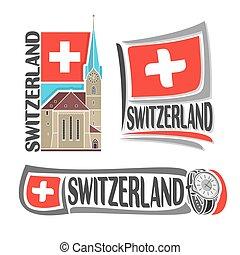 suíça, logotipo, vetorial