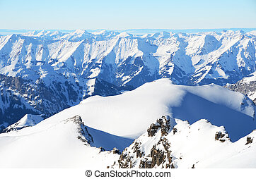 suíça, paisagem, alpino