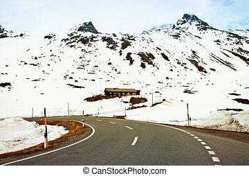 Suíço, Alpes, chalé