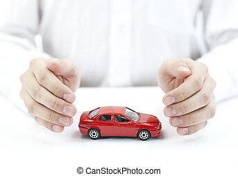 su, coche, proteger