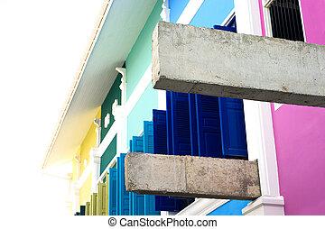 su, detail, balken, muur, beton