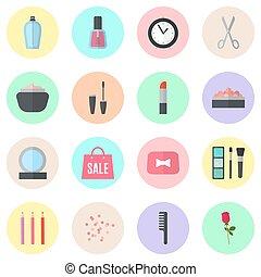 su, fare, illustrazione, icons., vettore, appartamento