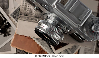 su., foto, macchina fotografica, vecchio, chiudere