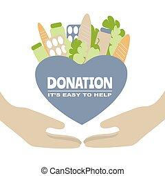 su, ilustración, vector, ayuda, ayuda, voluntario, social, ...