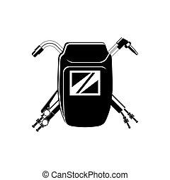su, logotipo, soldadura, compañía