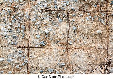su, parete, dettaglio, rovinato, concreto, chiudere