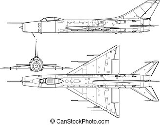Su9 - High detailed vector illustration of a modern military...