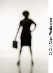 suave, businesswoman., foco