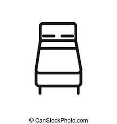suave, cama, cómodo, colchón, lineal, diseño del textil