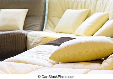suave, cojín sofá