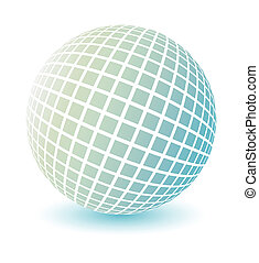 suave, coloreado, globo, vector.