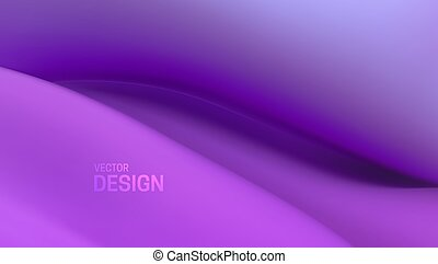 suave, púrpura, resumen, wave., fondo., colorido