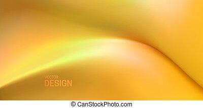 suave, resumen, amarillo, wave., líquido, fondo.