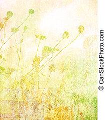 suave, verano, pradera, plano de fondo
