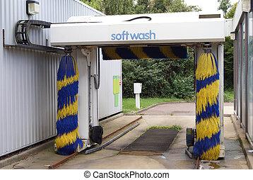 suave, wash., lavacoches, cepillos