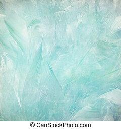 suave, y, azul pálido, pluma, resumen