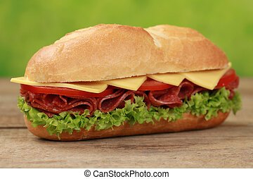 Sub Sandwiches with salami