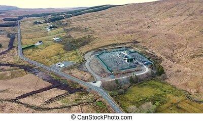 sub-station, irlande, électricité, donegal, comté, aérien, ...