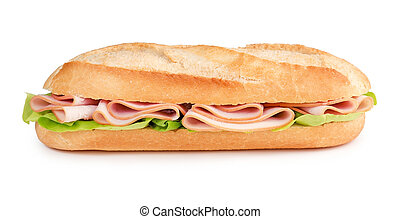 sub with ham and lettuce